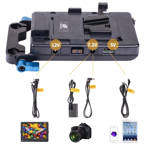 VFU1 DIGITALFOTO Power system +USB port dslr v mount battery power adapter v lock camera video baseplate for Studio Light Rig