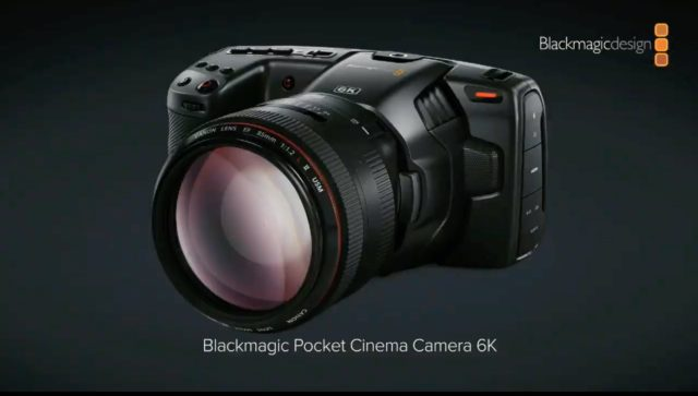 Blackmagic Pocket Cinema Camera 6K Announced – Super 35 Sensor and EF Mount
