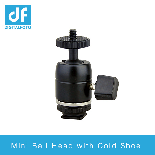 Mini ball head with cold shoe