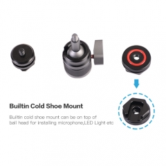 Mini Ball Head with Camera Cold Shoe Mount