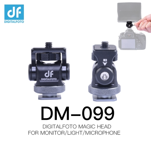 DM-099 DM099 Portable Rig Camera Video monitor magic grip head with hot shoe mount for CANON NIKON LED DSLR Light/Microphone