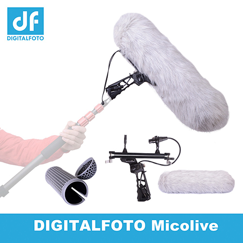 MICOLIVE BLIMP System Microphone wind protect Cage+ Windshield+Shock Mount Suspension System for RODE Shotgun Microphones