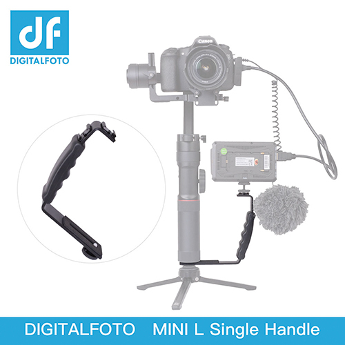 DIGITALFOTO MINI L bracket with 2 hot shoe for Smartphone Action Camera DSLR Camera Gimbal Zhiyun Smooth 4 Smooth Q Crane 2 Crane Plus V2