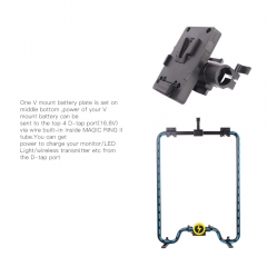 Universal Ring Grip with Power Passthrough & ARRI Style Rosette Clamp