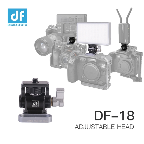 DF-18 Adjustable head for Monitor/LED Light/Transmitter on Camera Cage