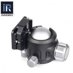Tripod Ballhead of Low Gravity Center Double U Notch Ultra-low Sphere Panoramic Ball Head with Quick Release Plate