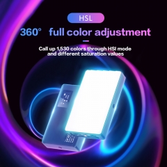 2500-8500K RGB Video LED Panel Light Builtin Battery with Magnet